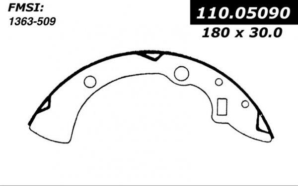 centric brake shoes 1981