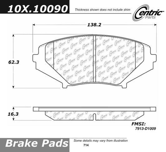 FRONT CERAMIC BRAKE PADS FOR MAZDA RX-8 2004 2005 2006 2007 2008 2009 D1009