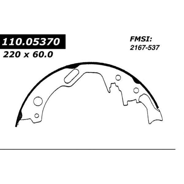 Centric Brake Shoes 1982 - 1989 Nissan 111.05370