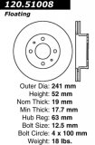 Front Standard Brake Rotor/Disc Hyundai Accent 2000 - 2002