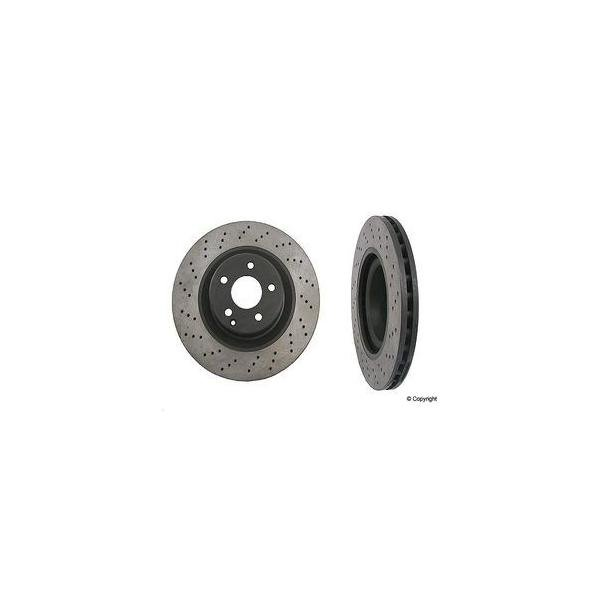 Front Cross Drilled Black Hat Brake Disc MBZ CL AMG 40533010