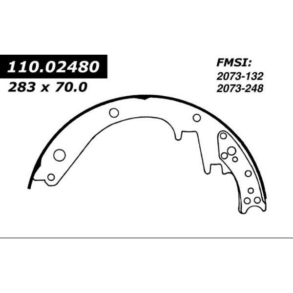 Centric Brake Shoes 1960 - 1975 Chevrolet GMC 111.02480