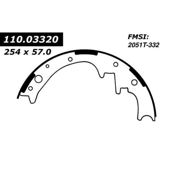 Centric Brake Shoes 1964 - 1972 Chrysler Dodge 111.03320