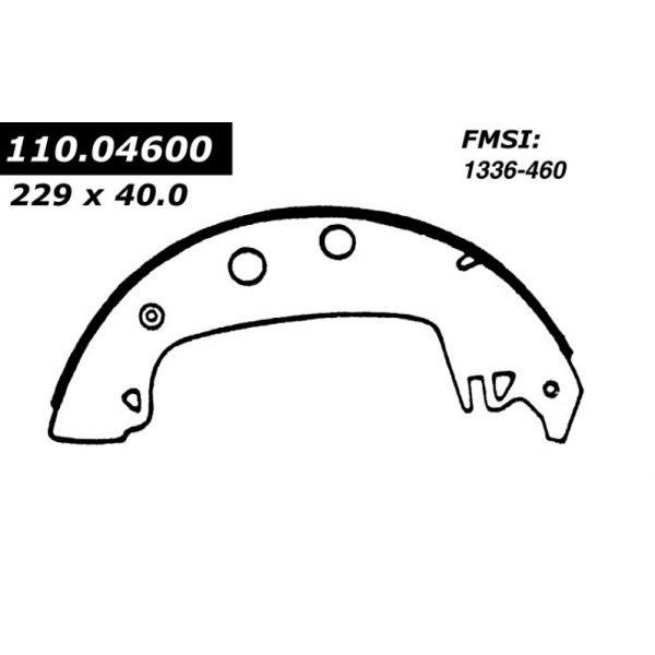 Centric Brake Shoes 1971 - 1982 Fiat Renault 111.04600