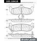 Parking Brake Shoe-C-TEK Rear Centric 110.08680