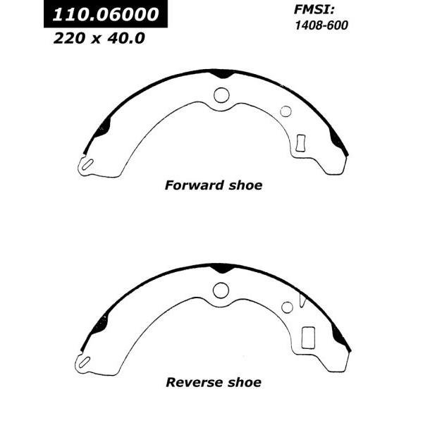 Rear Centric Brake Shoe Suzuki 111.06000