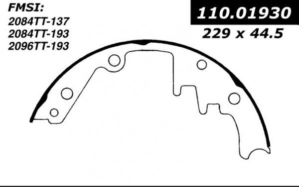 centric brake shoes 1961