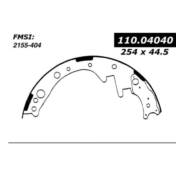 Centric Brake Shoes 1972 - 1980 Chevrolet 111.04040