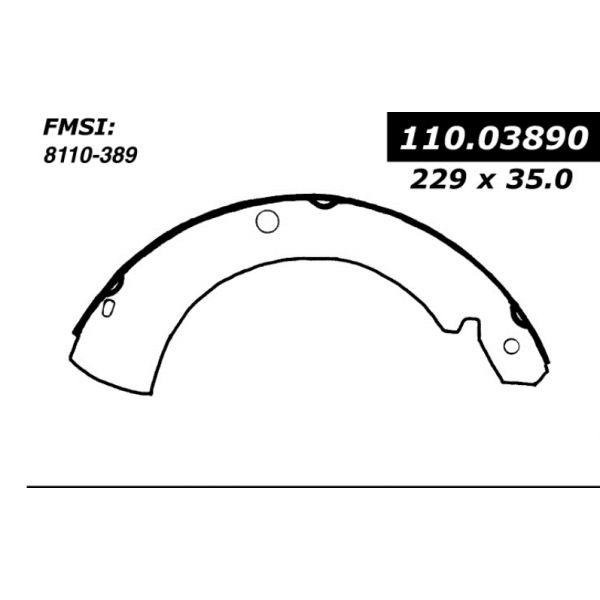 Centric Brake Shoes 1971 - 1973 Dodge 111.03890