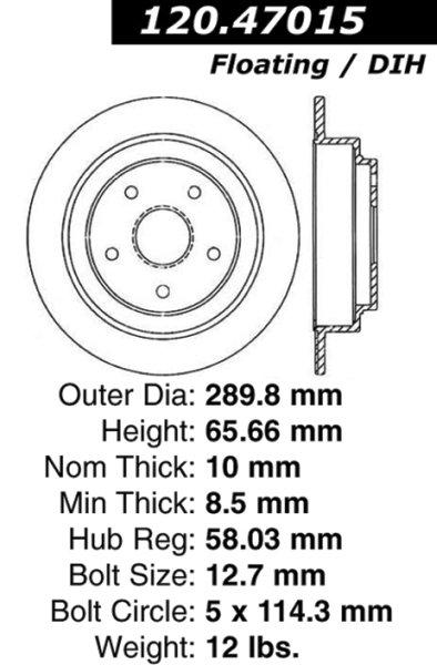 Rear Brake Disc for Subaru SVX