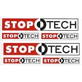 STOPTECH Racing Decal Sticker Sheet of 3 Set of 2