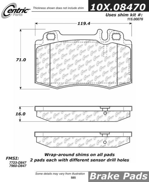 For 2004-2006 Mercedes-Benz E500 Front Rear Semi-Metallic Brake Pads