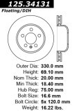 Rear C-Tek Brake Rotor BMW 121.34131