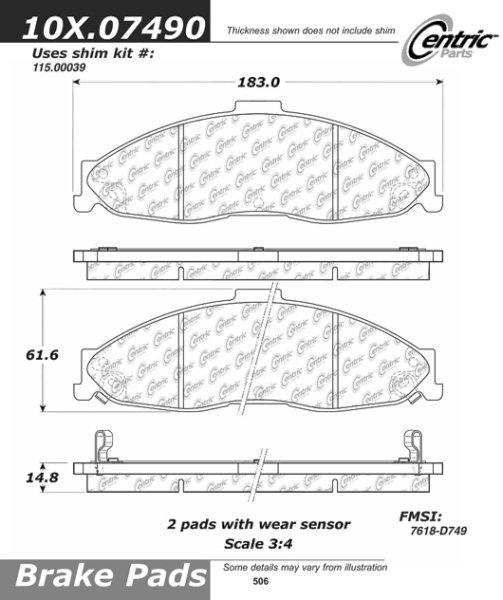 1998-2002 CERAMIC D749 Front Brake pad forChev:Camaro ;Pont:Firebird 1998-2002