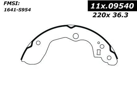 Centric 111.09540 Centric Brake Shoes