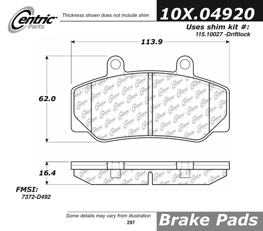 Front Axxis Ultimate Ceramic Brake Pads Bendix Calipers Volvo