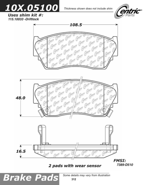 Front Axxis Ultimate Ceramic Brake Pads Nissan 109.05100