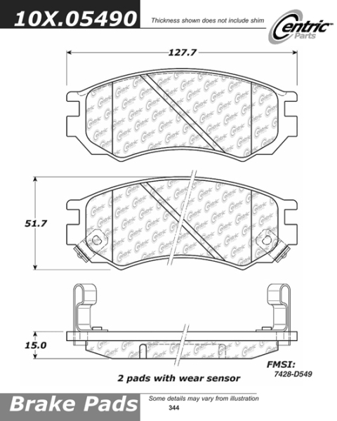 Front Axxis Ultimate Ceramic Brake Pads Nissan