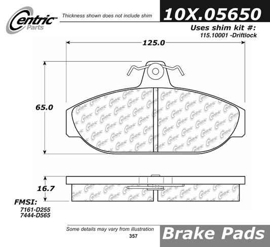 Front Axxis Ultimate Ceramic Brake Pads W/Girling Calipers Volvo