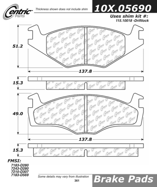 Front Axxis Ultimate Ceramic Brake Pads Volkswagen