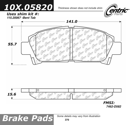 Front Axxis Ultimate Ceramic Brake Pads Toyota 109.05820