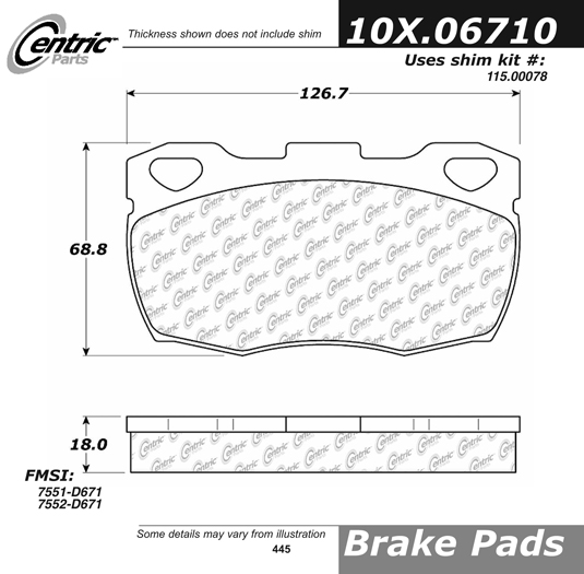 Front Axxis Ultimate Ceramic Brake Pads