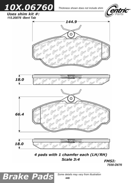 Front Axxis Ultimate Ceramic Brake Pads HSE 109.06760