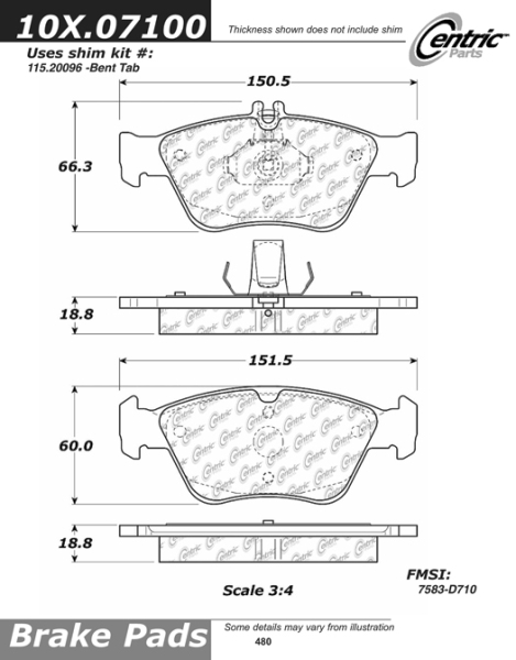 Front Axxis Ultimate Ceramic Brake Pads 109.07100