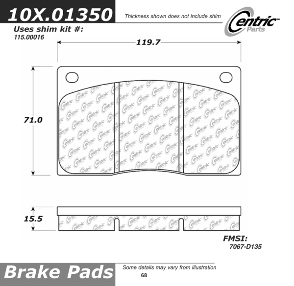 Front Axxis Ultimate Ceramic Brake Pads Jaguar 109.01350