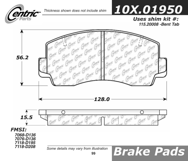 Front Axxis Ultimate Ceramic Brake Pads Toyota Celica Supra