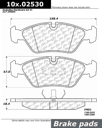 Front Axxis Ultimate Ceramic Brake Pads BMW 109.02530
