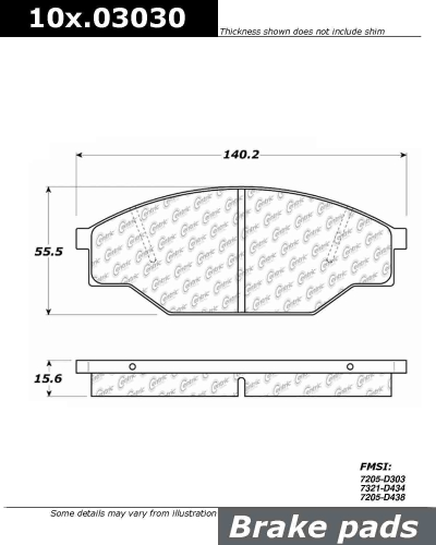 Front Axxis Ultimate Ceramic Brake Pads Toyota Pickup