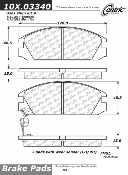 Front Axxis Ultimate Ceramic Brake Pads Acura Honda 109.03340