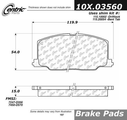 Front Axxis Ceramic Ultimate Brake Pads Toyota Lexus 109.03560