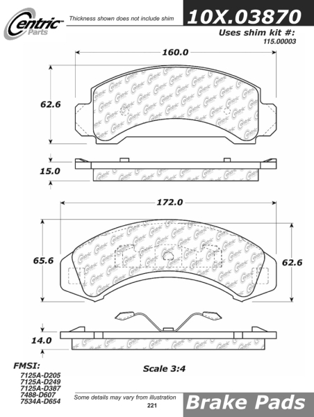 Front Axxis Ultimate Ceramic Brake Pads Ford Mazda 109.03870