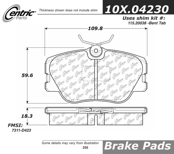 Front Axxis Ultimate Ceramic Brake Pads 109.04230