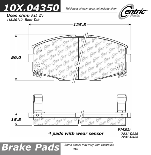 Front Axxis Ultimate Ceramic Brake Pads Toyota 109.04350