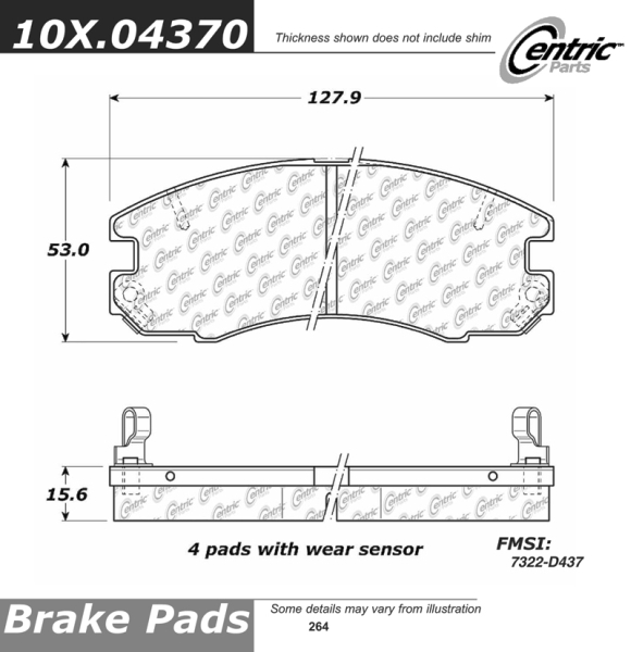 Front Axxis Deluxe Brake Pads 1988 1989 Toyota Celica 107.04370