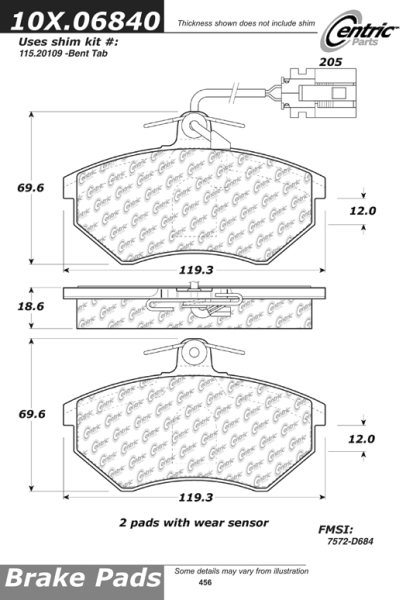 Front Axxis Ultimate Ceramic Brake Pads Volkswagen 109.06840