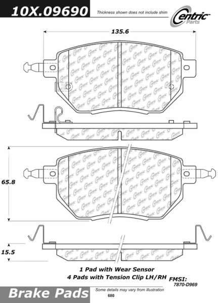 Front Axxis Ultimate Ceramic Brake Pads Infiniti 109.09690