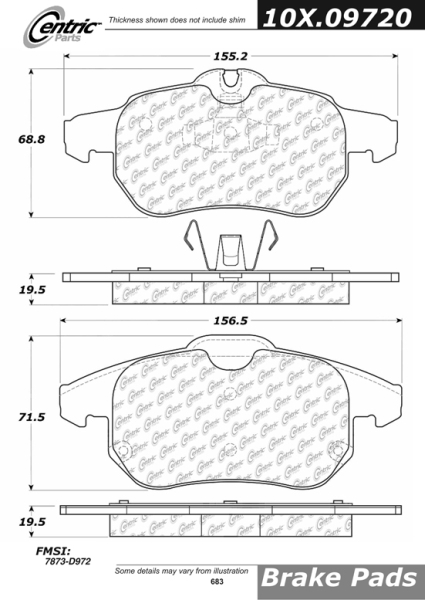 Front Axxis Ultimate Ceramic Brake Pads Saab 9-3 109.09720
