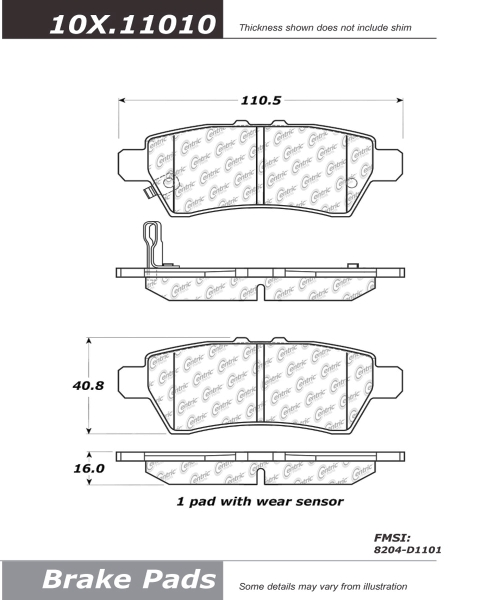 Rear Ceramic Brake Pads Nissan Pathfinder PCD1101