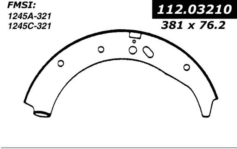 centric brake shoes 1960