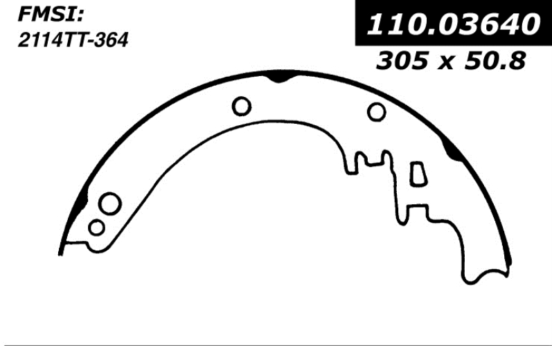centric brake shoes 1971