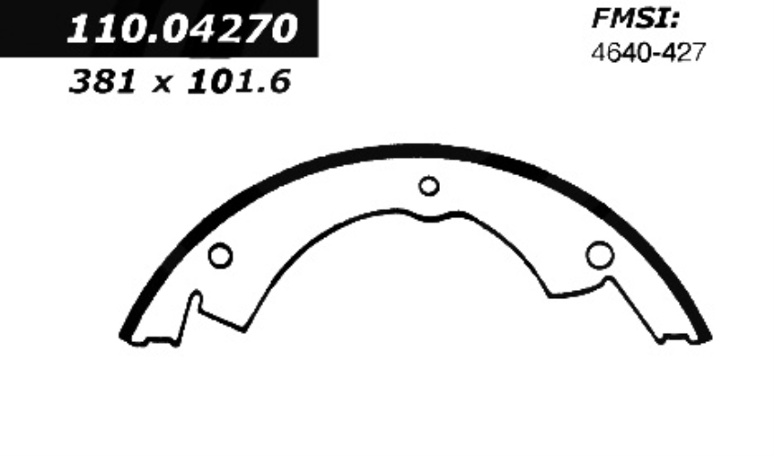111.04270 Centric Brake Shoes 1971 - 1978 1965 - 1987 GMC