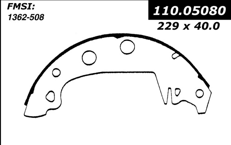 111.05080 New Brake Shoes 1980 - 1985 Renault