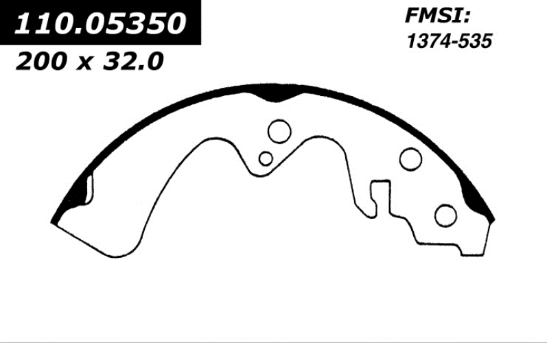 111.05350 New Brake Shoes 1981 - 1985 Mazda