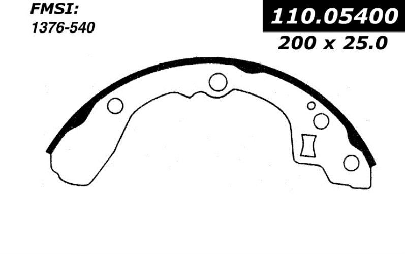 centric brake shoes 1983