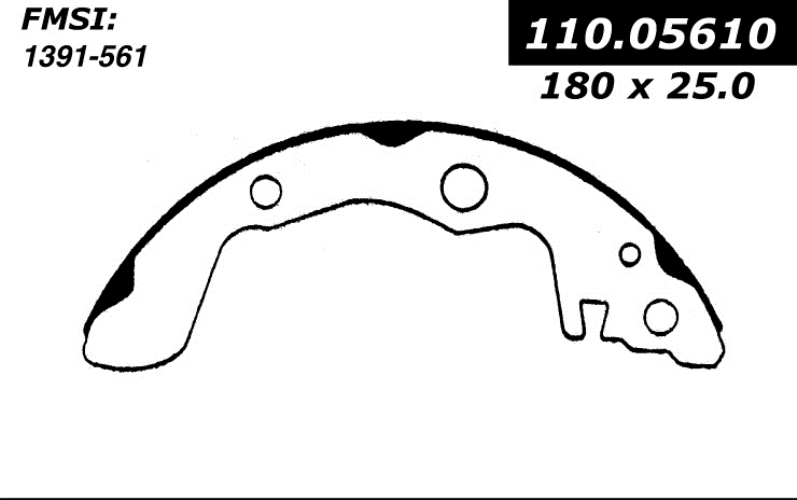 111.05610 New Brake Shoes 1985 - 1987 Chevrolet Isuzu