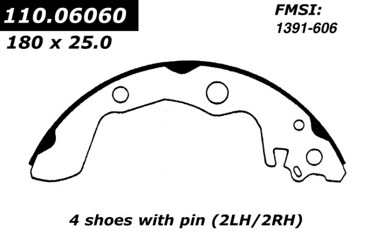 111.06060 Centric Brake Shoes 1987 - 1989 Chevrolet